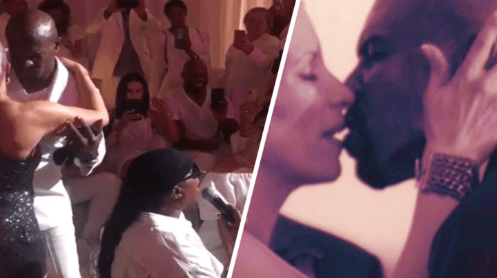 Stevie Wonder Serenades 'AGT's Terry Crews and Wife Rebecca King Crews For 30th Anniversary Celebration
