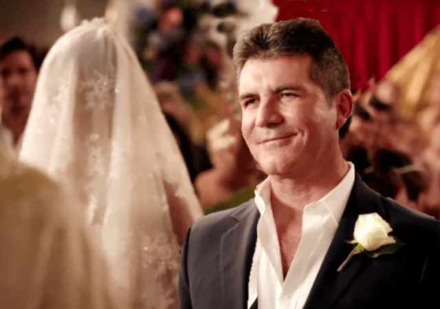 Simon Cowell wedding video valentines Day