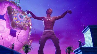 WATCH Stormi & Travis Scott React To Travis' Virtual Fortnite Concert