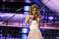 Violinist Gabriella Laberge Keeps Simon Cowell From Hitting Red Buzzer on 'AGT'